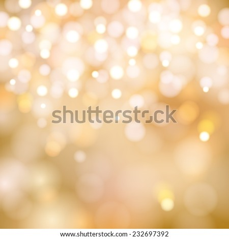soft golden Christmas lights - festive bokeh background - stock vector