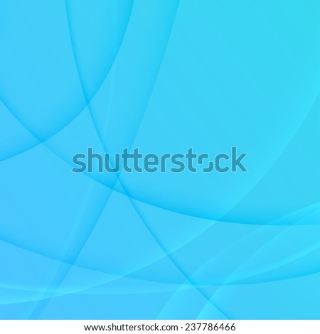 soft light blue transparent swoosh waves abstract background. vector illustration - stock vector