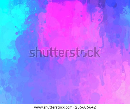 Soft pink and blue brush strokes background. Vector version - stock vector