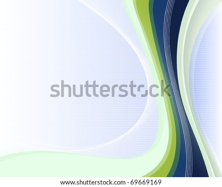 Soft striped blue background with lines for the design work - stock vector
