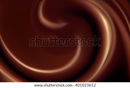 Soft wonderful circular mixed depth sepia curvy eddy ripple luxury fond. Beautiful yummy volute fluid melt sweet choco surface with space for text on deep maroon chestnut color - stock vector