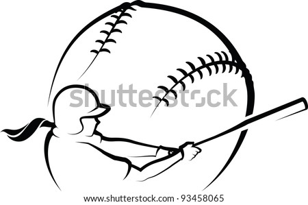 Softball Design i - stock vector