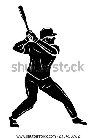 Softball Player - stock vector
