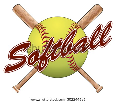 Baseball glove and bat clipart