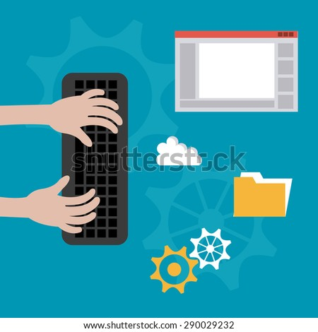 Software digital design, vector illustration eps 10 - stock vector