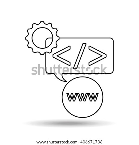 software programming design  - stock vector