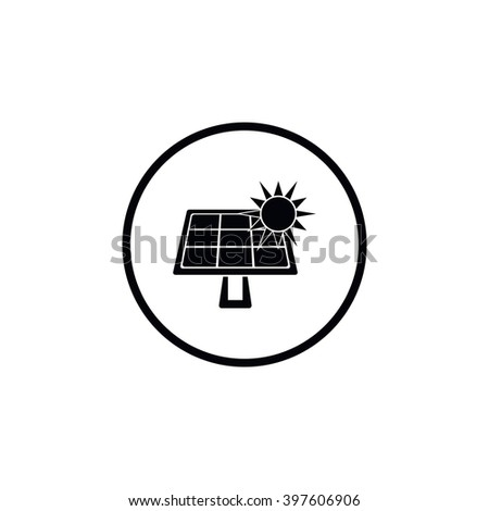 Solar battery icon. - stock vector
