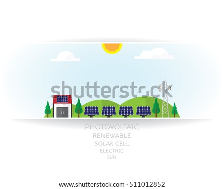 solar cell on white background