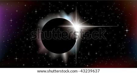 solar eclipse - stock vector