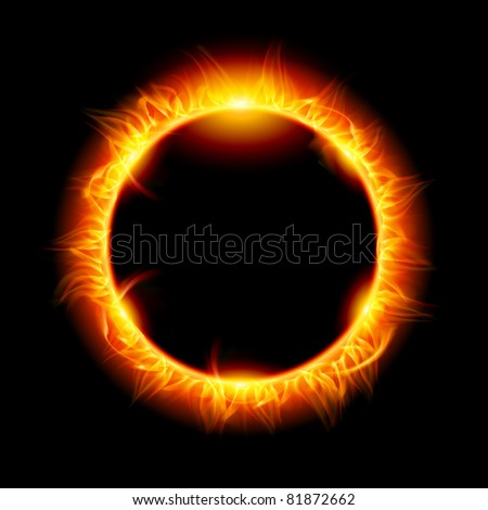 Solar eclipse. Illustration on black background for design - stock vector
