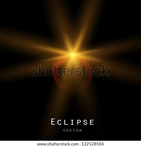 Solar eclipse. Vector background - stock vector