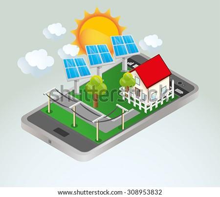 Solar energy. - stock vector