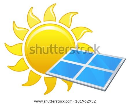 Solar Energy - Illustration - stock vector
