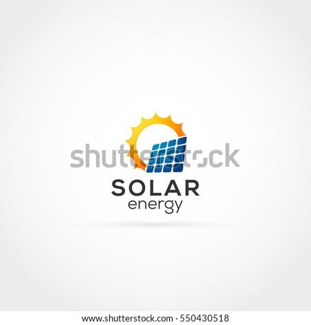 solar energy logo stock vector 550430518 shutterstock