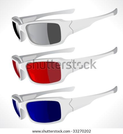 Solar glasses. Vector illustration. - stock vector