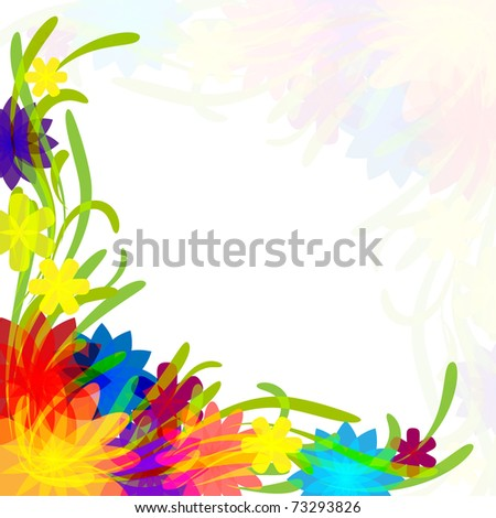 Solar grass with flowers and butterflies. vector.