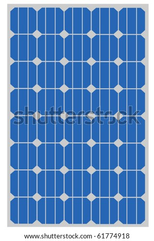 Solar panel for clean energy - stock vector