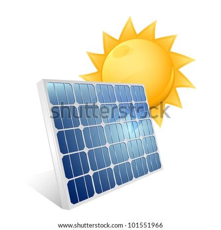 Solar panel icon. Vector - stock vector