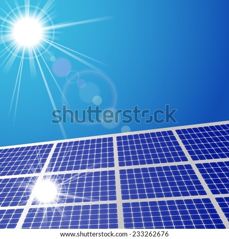 Solar panel illustration - stock vector