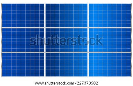 Solar panel. Vector illustration. - stock vector