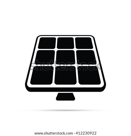 Solar Panels Icon - stock vector