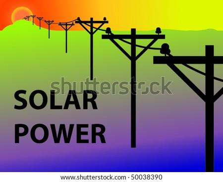 Solar Power - stock vector