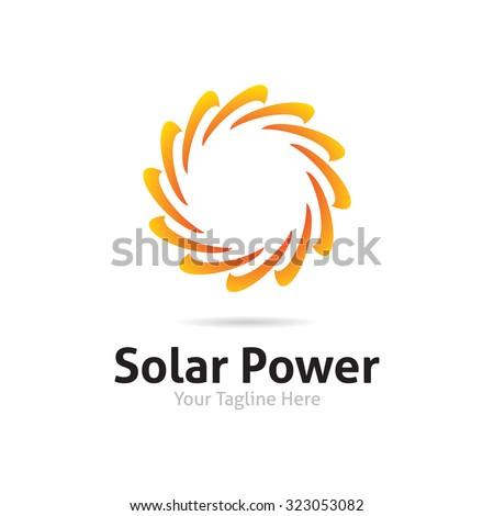 Solar Power logo - stock vector