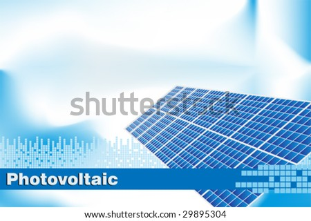 Solar power, renewable energy.  Brochure cover or Business card - stock vector