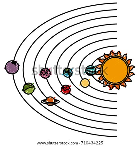 solar system cartoon stock vector hd royalty free 710434225 rh shutterstock com free clip art solar system for kids clipart images of solar system