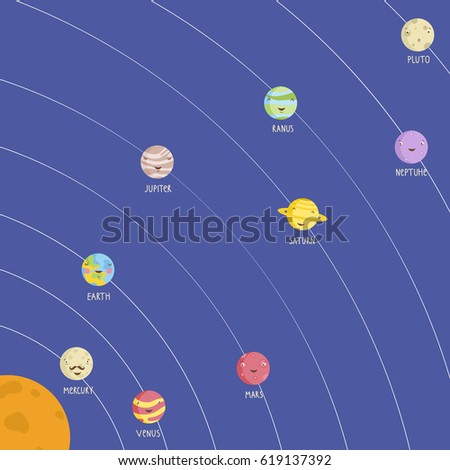Set planets solar system cartoon style flat icon stock vector image - Uranus Stock Vectors Images Amp Vector Art Shutterstock