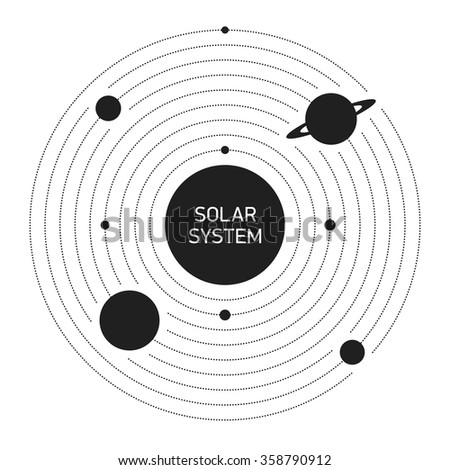 Solar System planets - stock vector