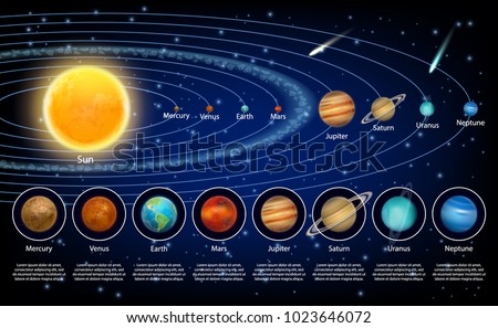 Solar System Planets Set Vector Realistic Stock Vector Royalty Free