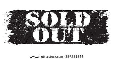 sold out icon, vector illustration