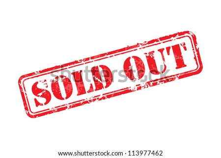 Sold out rubber stamp vector illustration. Contains original brushes - stock vector