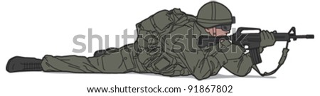 Soldier 6 - stock vector