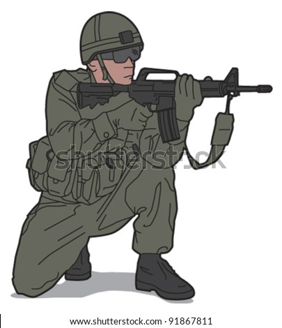 Soldier 3 - stock vector