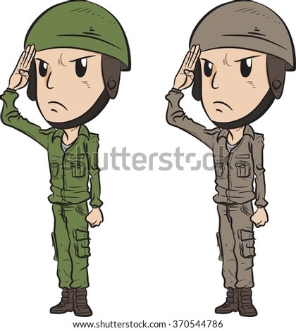 Soldier salute - stock vector