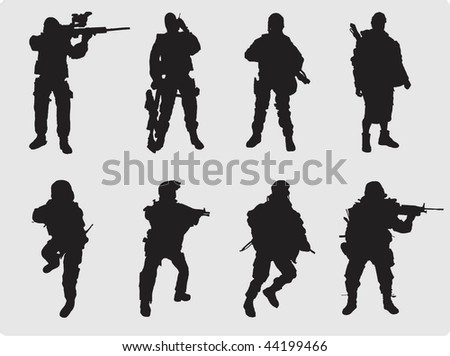 Soldier silhouette collection