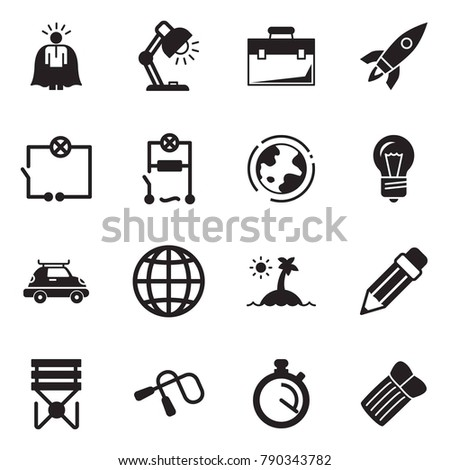 Solid black vector icon set super stock vector 790343782 solid black vector icon set super manager vector table lamp case rocket keyboard keysfo Image collections