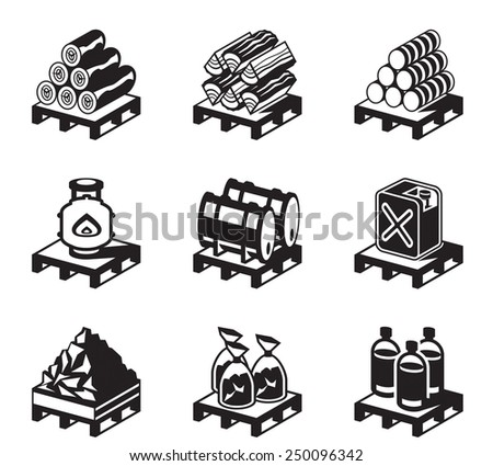 Solid fuel for domestic use - vector illustration - stock vector