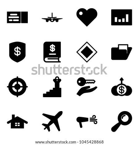 Solid Vector Icon Set Ticket Vector Stock Vector 1045428868