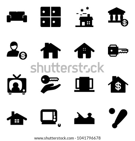 solid vector icon set vip waiting stock vector royalty free