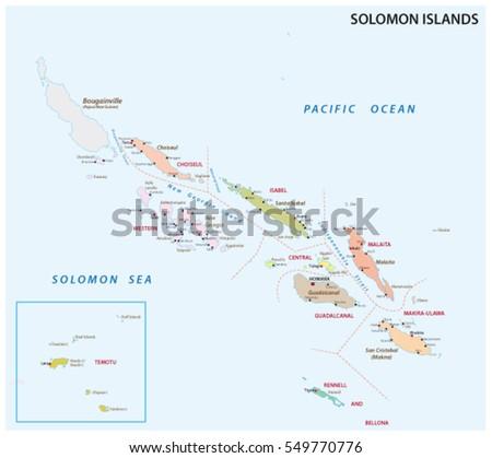 Solomon Islands Map Stock Vector Shutterstock - Solomon islands map