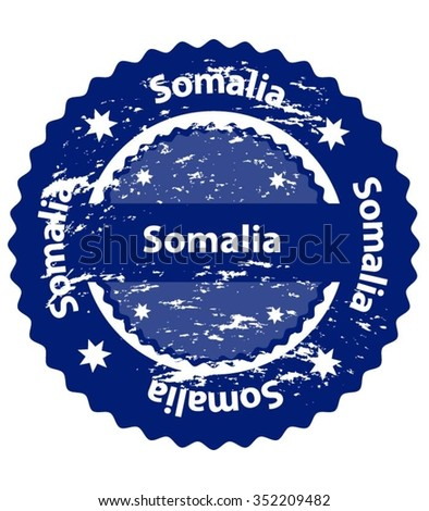 Somalia Country Grunge Stamp - stock vector