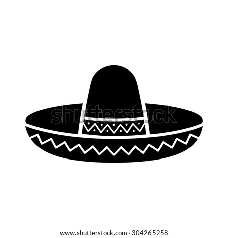 Sombrero Clipart Black And White | www.pixshark.com ...