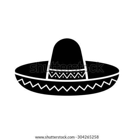 Sombrero Clipart Black And White | www.pixshark.com ...
