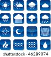 some icons about weather - stock vector
