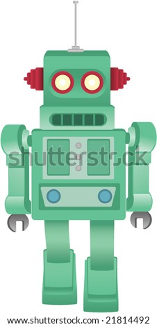 Some kind of robot - stock vector