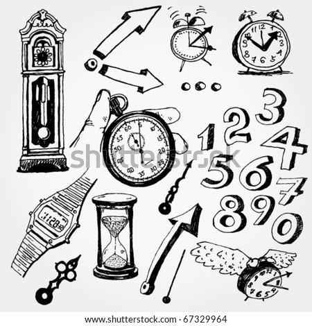 Some Time Doodles - stock vector