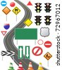 some traffic sign icon for web design - stock vector